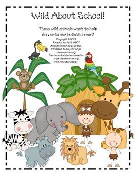 Jungle Bulletin Board Letters