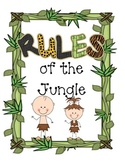 Jungle Rules of the Jungle Classroom Signs
