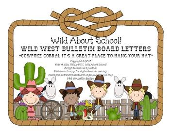 Wild West - Western Themed Cowpoke Corral Bulletin Board