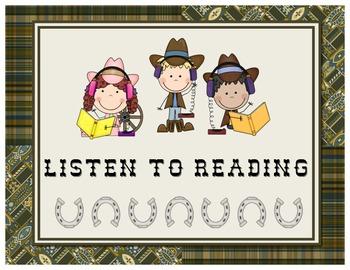 Wild West - Western Themed Readers Workshop Posters