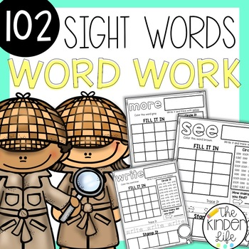 Sight Word Detectives Independent Work Literacy Center Morning Work