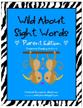 Wild About Sight Words Parent Pack