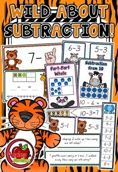 Wild About Subtraction Math Centres