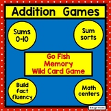 Addition fact card games Sums to 10