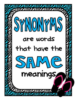 Wild About Synonyms: Centers and Independent Practice