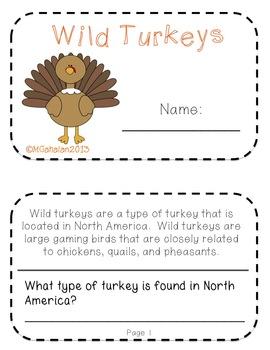 Wild About Turkeys Mini Science Unit Grades 2-4