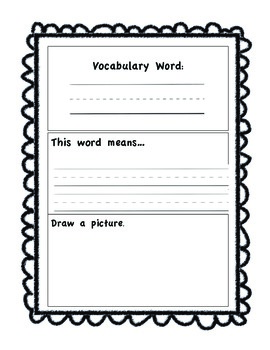 Wild About Vocabulary Journal