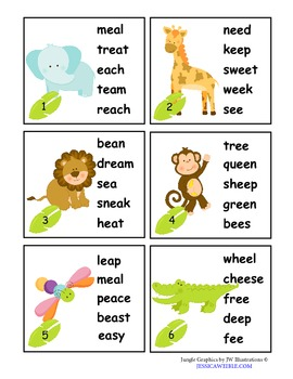 Vowel Digraphs - Long e: ea & ee