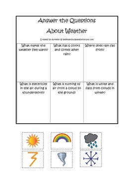 Wild About Weather Answer the Question