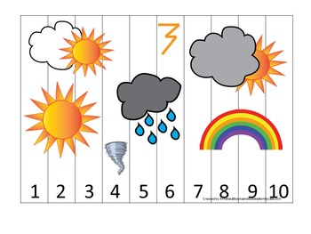 Wild About Weather preschool curriculum package. Great for daycare & homeschool.