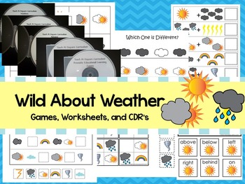 Wild About Weather preschool curriculum package. Great for