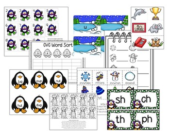 Wild About Winter! 11 Kindergarten Common Core Winter Math and Literacy Centers