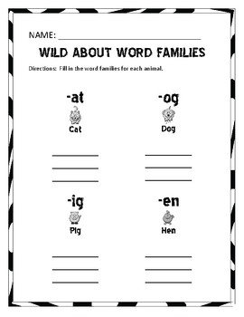 Wild About Word Families