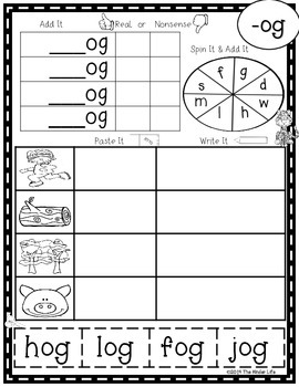 Wild About Word Families: Print and Go Literacy