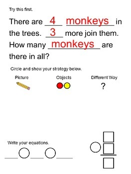 Wild About Word Problems Common Core 1.OA.1