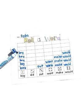 Word Work #2-Add Your Own Words Version