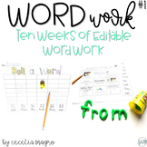 Sight Words - Wild About Word Work - EDITABLE