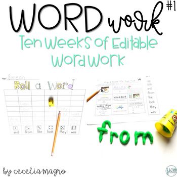 Word Work  - EDITABLE