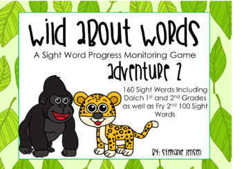 Wild About Words Adventure 2 Sight Word Progress Monitoring Game