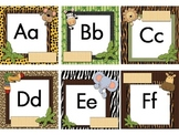 """Word Wall Letter Labels & Decor EDITABLE """"Wild About Words"""