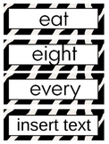 """Word Wall Packet All 220 Dolch Words Plus EDITABLE """"Wild A"""