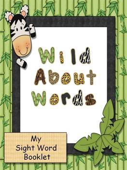Wild About Words Sight Word Booklet