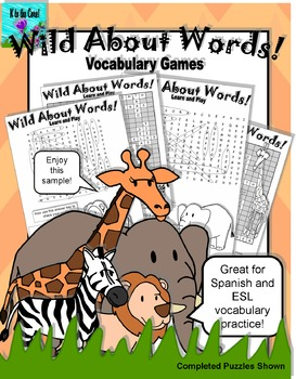 Wild About Words Vocabulary Game Sampler