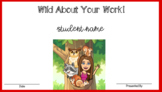 Wild About Your Work Bitmoji Student Award Certificate