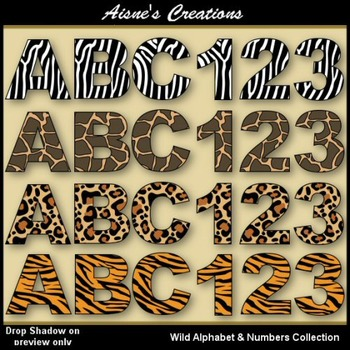Wild Alphabet & Numbers Collection