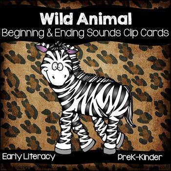 Wild Animal Beginning & Ending Clip Cards