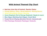 Wild Animal Behavior Clip Chart