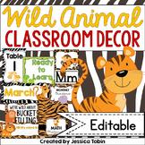 Wild Animal Classroom Decor