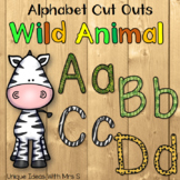Wild Animal Jungle Alphabet Bulletin Board Cut Outs