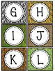 Wild Animal Jungle Classroom Decor Small Alphabet Cards
