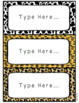 Wild Animal Jungle Classroom Desk and Locker Name Labels Editable