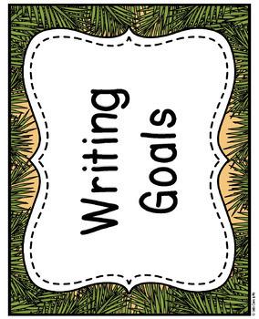 Wild Animal Jungle Classroom Writing Goals Editable