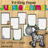 Wild Animal Jungle Classroom Writing Paper