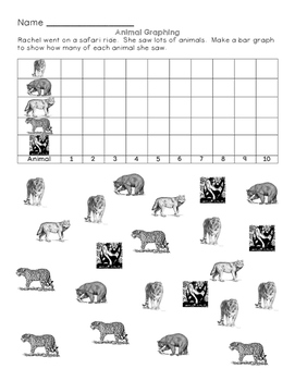 Wild Animal Math: First Grade Skills