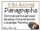 Wild Animal Paragraphs