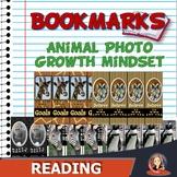 Growth Mindset Bookmarks with Wild Animal Photos