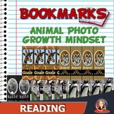 Growth Mindset Bookmarks with Wild Animal Photos