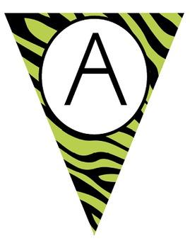 Wild Animal Print Alphabet Bunting