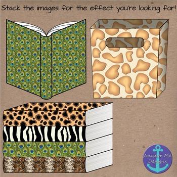 Wild Animal Print Classroom Items- Books, Pencils, Notebooks, Book Bins
