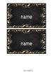 Wild Animal Print Name Tags ~ EDITABLE