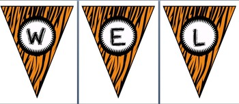 Wild Animal Print Welcome Pennant Banner! (1st, 2nd, 3rd, 4th)