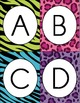 Wild Animal Print Word Wall Letter Cards