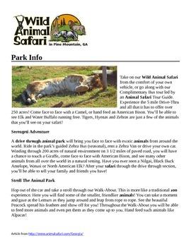Wild Animal Safari - Reading Comprehension Passage