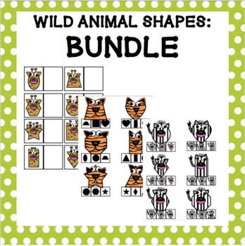 Wild Animal Shapes - Bundle