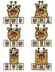 Wild Animal Shapes Clip Cards - Matching