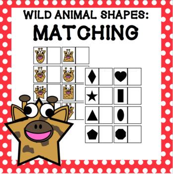 Wild Animal Shapes - Matching